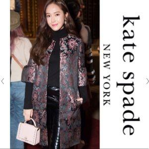 Kate Spade tapestry Jacquard coat new!